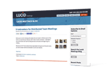 Subscribe to instant updates from the Lucid Meetings blog