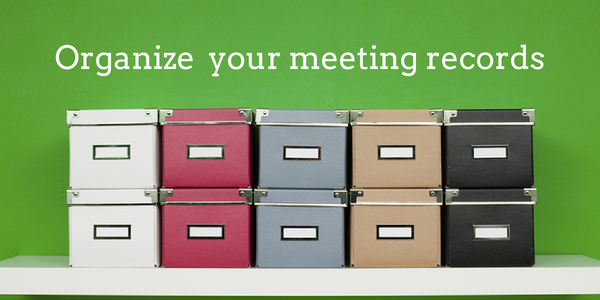 how to organize meeting notes