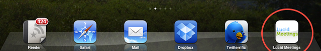 Lucid Screenshot: The Lucid icon in the iPad dock