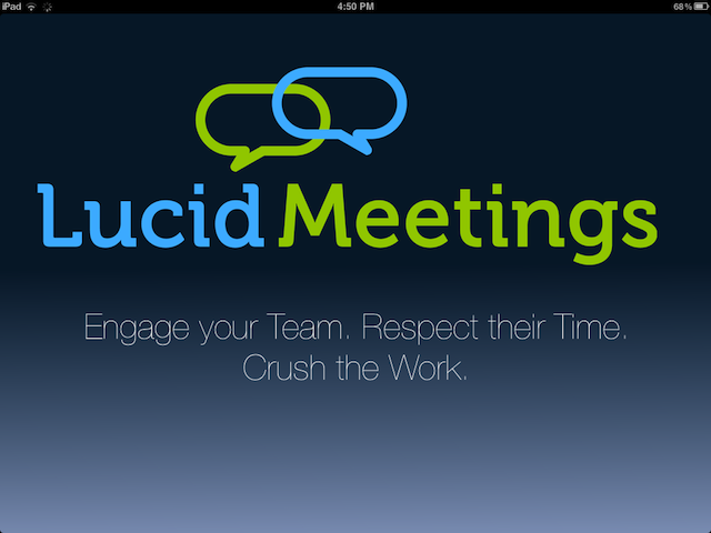 Lucid Screenshot: iPad app splash screen
