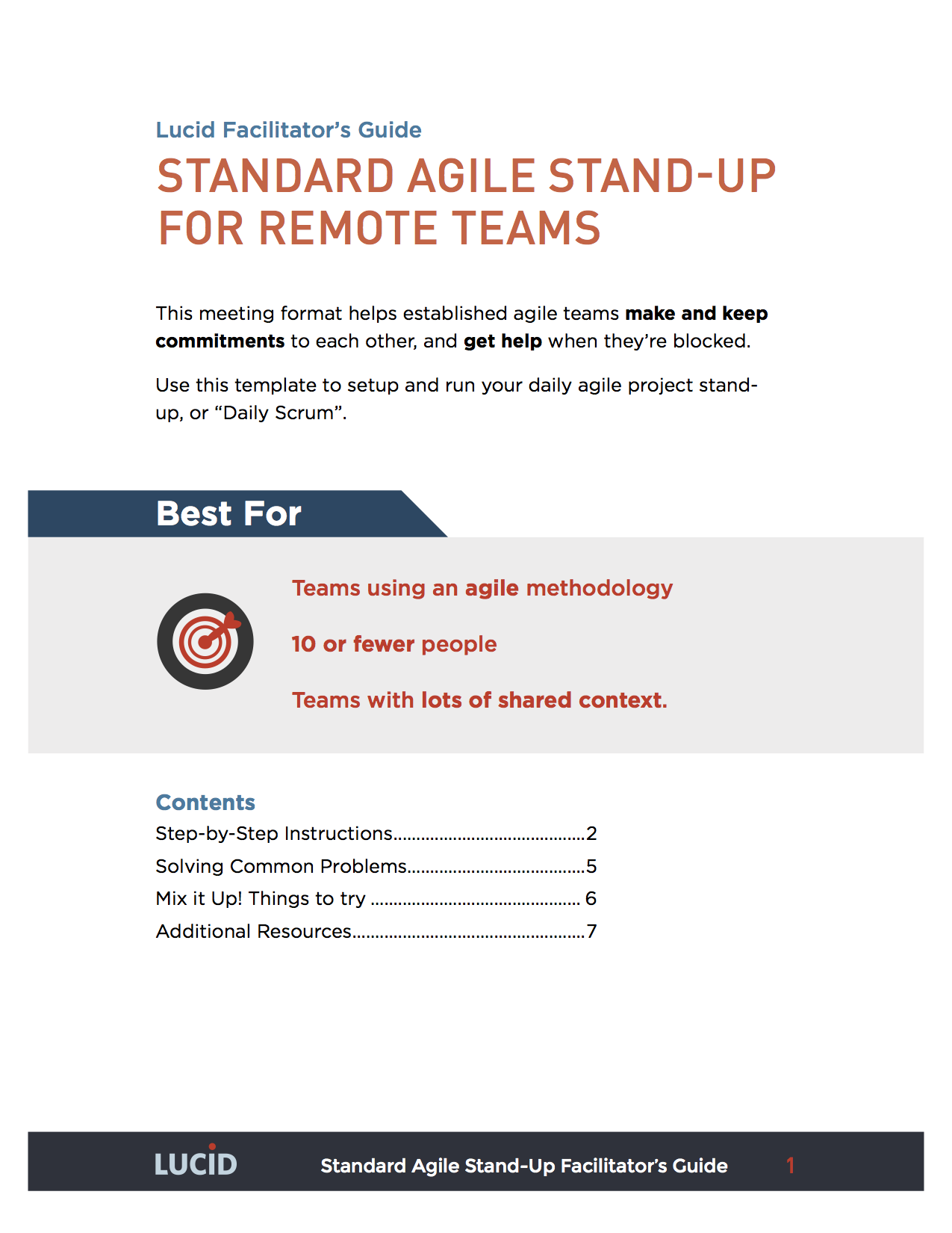 Agile standup meeting lucid meetings for Stand up meeting minutes template