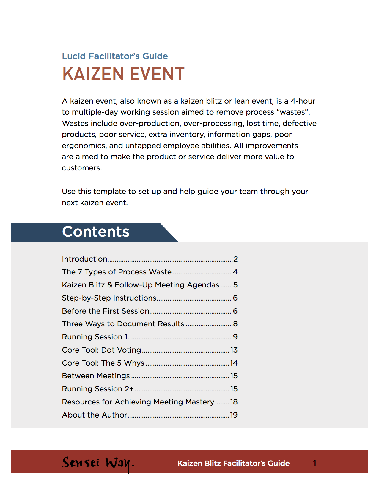 Facilitator Guide Template | Kaizen Event Lucid Meetings