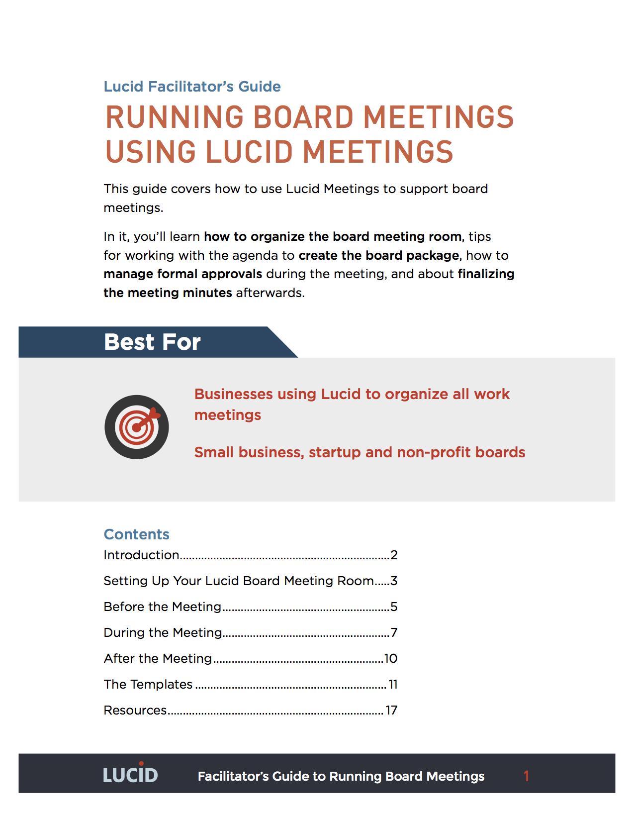simple board meeting lucid meetings