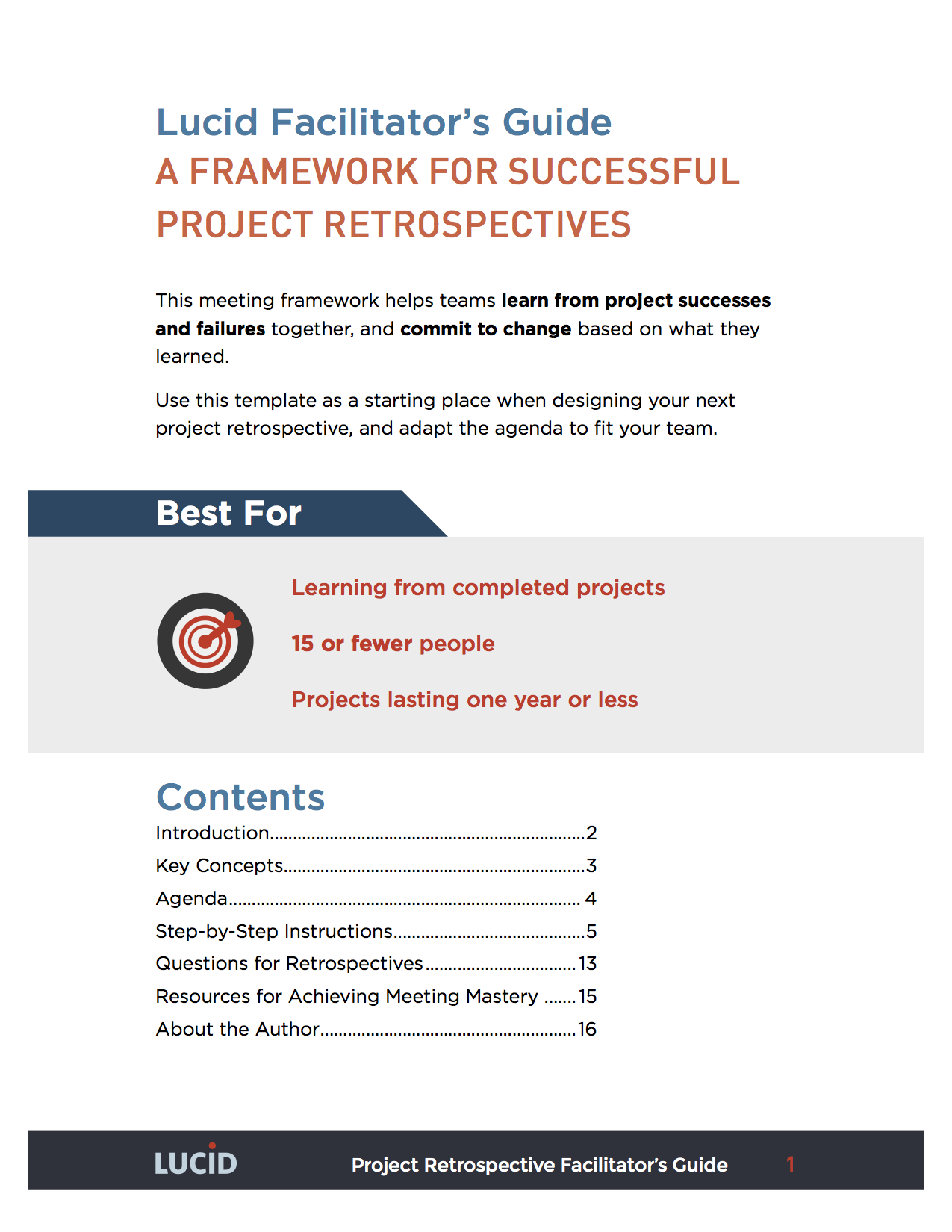 A Framework For Successful Project Retrospectives  Best Agenda Template