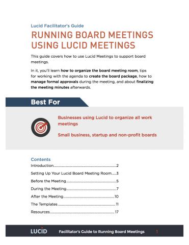 boards and committees lucid meetings