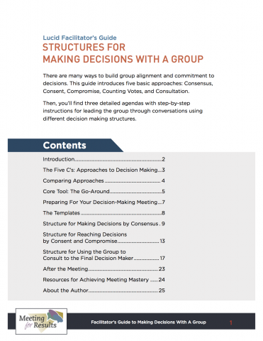meeting structure template